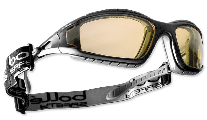 Bollé TRACPSJ Tracker Safety Glasses Platinum® Coating Yellow Lens