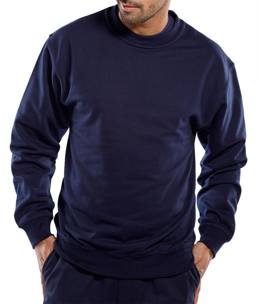 Beeswift CLPCSN Men Sweatshirt Polycotton Navy Blue