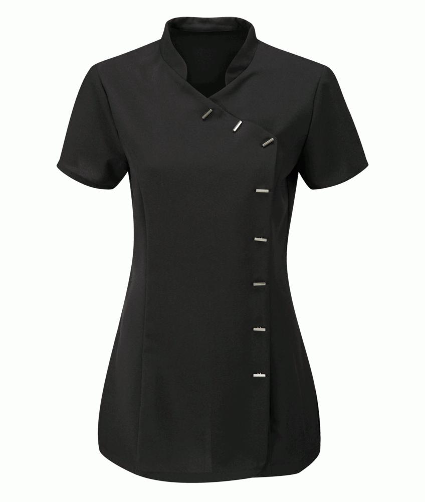 Orbit International CBLT1 Ladies Beauty Tunic Short Sleeve Size 14 Black