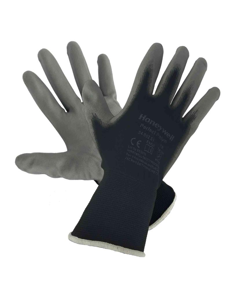 Honeywell 2400251 Perfect Poly Black Polyamide Grey Coated Gloves, Size - 10