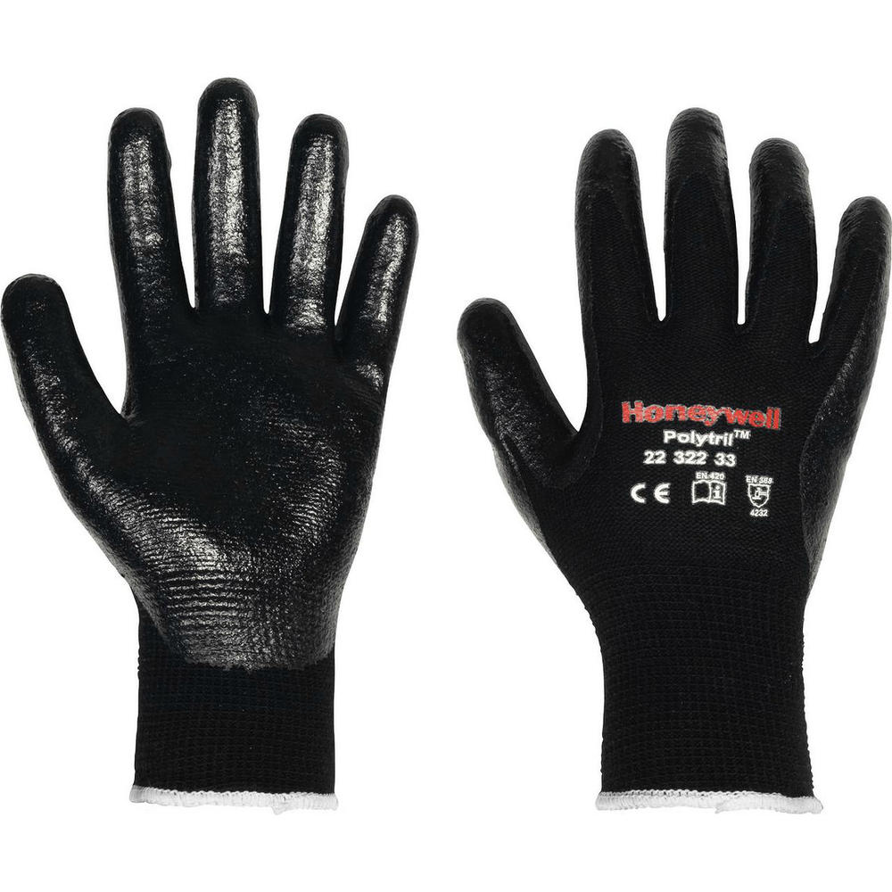 Honeywell 2232233 Polytril Mix Work Gloves Nitrile Coating Size 10