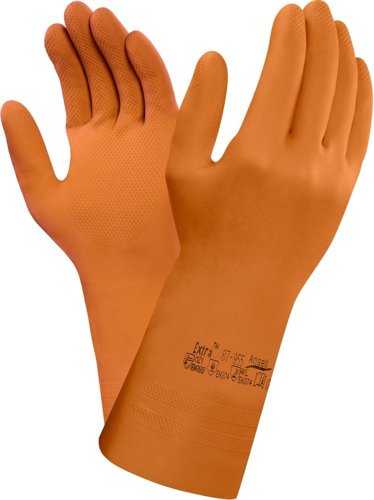 Ansell 87-955 AlphaTec® Natural Rubber Latex Gauntlets Size 7