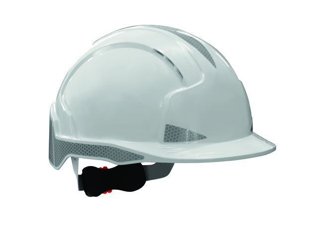 JSP AJB170-400-100 EVOLite® CR2 Safety Helmet Vented Wheel Ratchet White