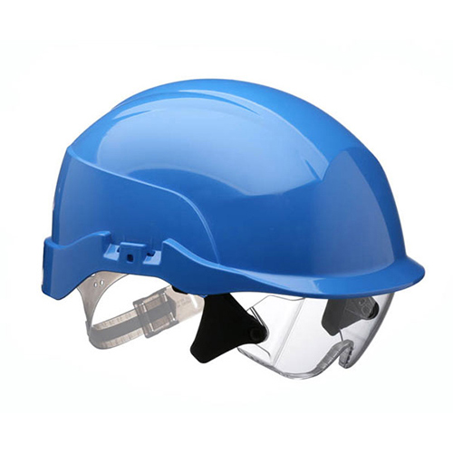 Centurion S20BA Spectrum Safety Helmet with Integrated Eye Protection Blue