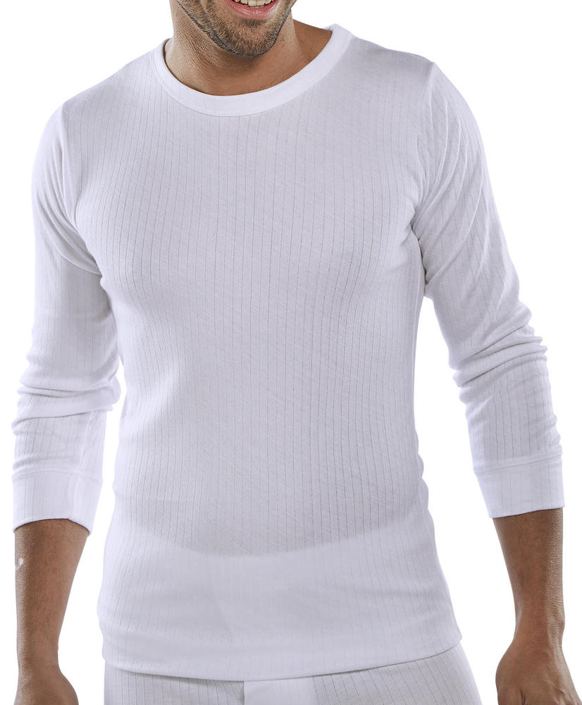 Beeswift THVLSW Essential Thermal Vest Long Sleeve White