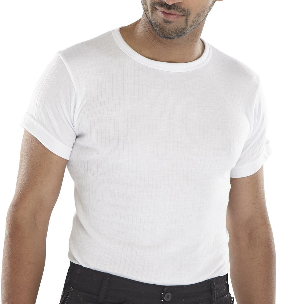 Beeswift THVSSW Essential Thermal Vest Short Sleeve White
