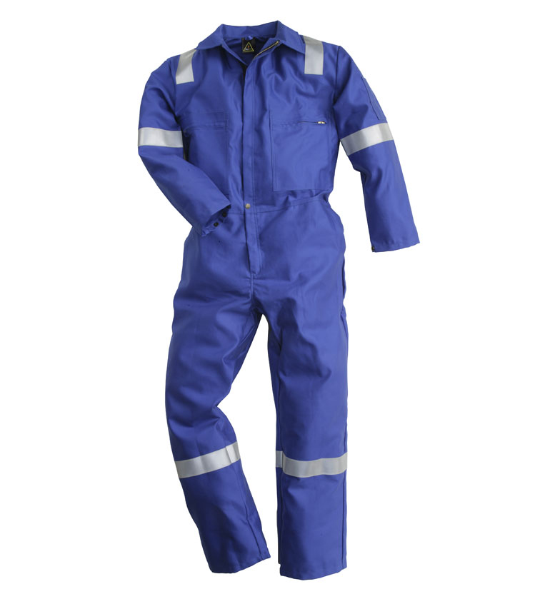 Pioner 350gm Firemaster Royal Blue Coverall FM1040Plus