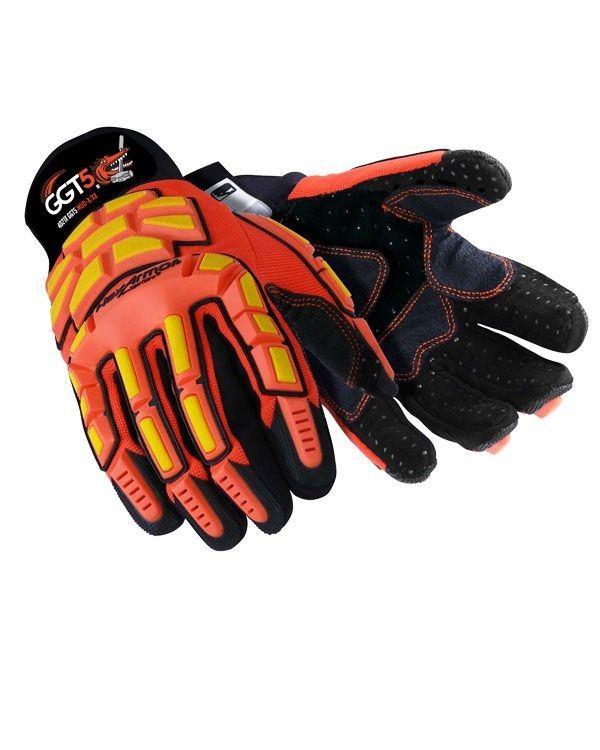 Polyco 4021 HexArmor GGT5 Cut & Impact Resistance Mud Glove Hi-vis Orange