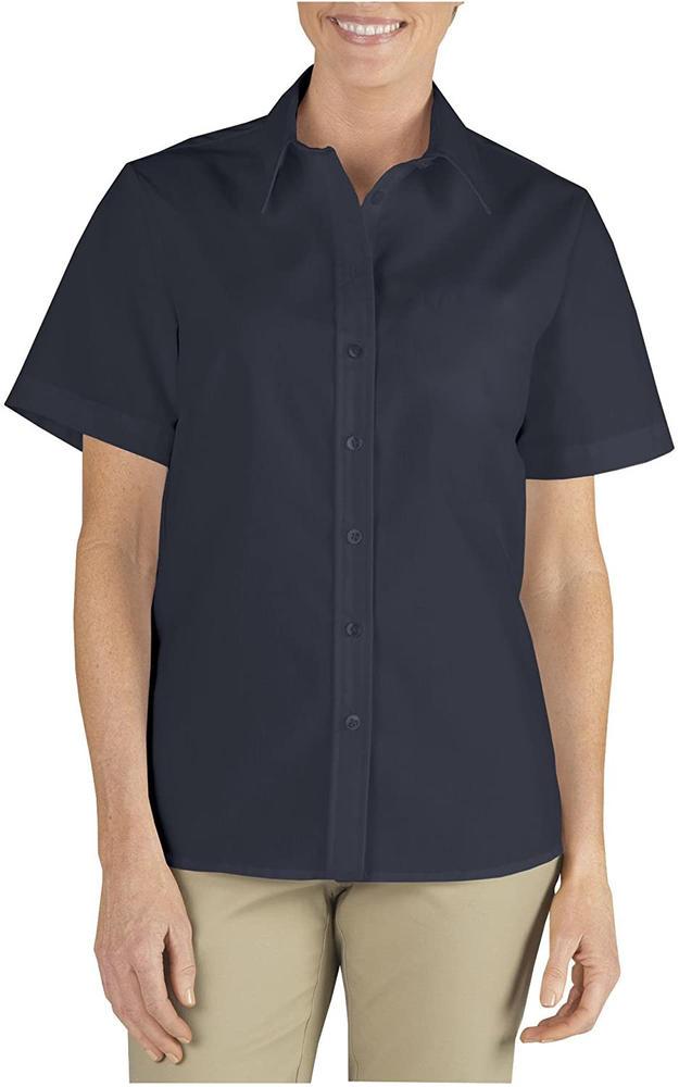 Dickies SH58250 Ladies? Short Sleeve Shirt Black Size 16