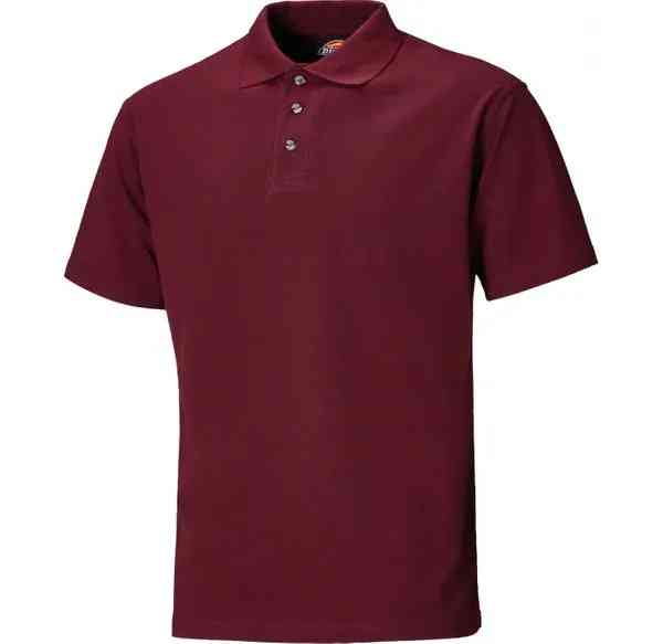 Dickies SH21220 Men Short Sleeve Polo Shirt Burgundy