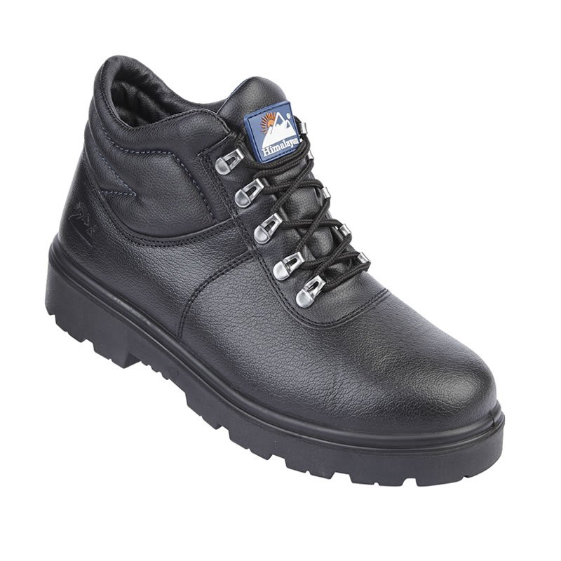 Himalayan Black Leather Safety Boot Steel Toe Cap & Midsole S3 SRC