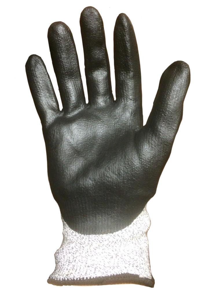 Polyco Dy Flex N Dyneema Safety Glove Cut 3 Resistant Black Grey