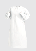 Arvello Disposable Medical Gown Uncollared White Pack of 75