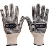 Polyco 730 Firmadot PVC Dot Coated Knitted Work Gloves White