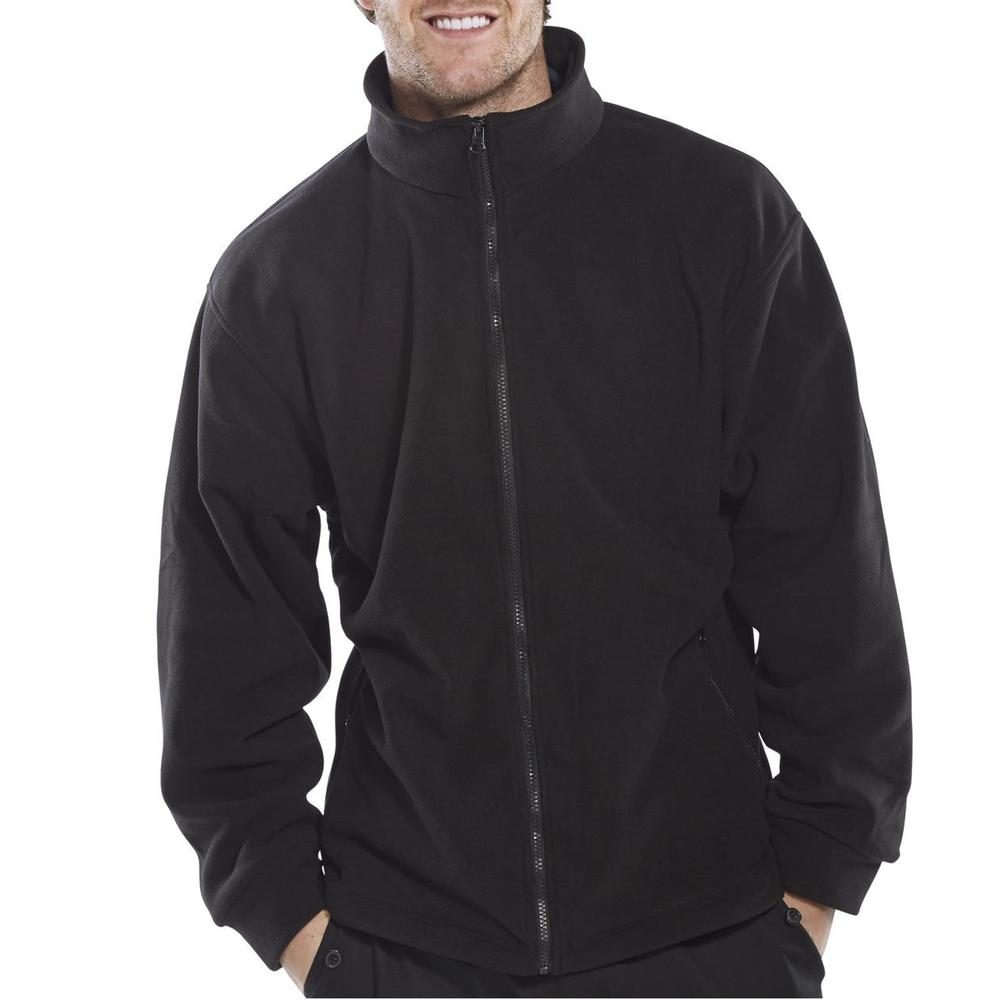 Beeswift FLJB Men Standard Fleece Jacket Black