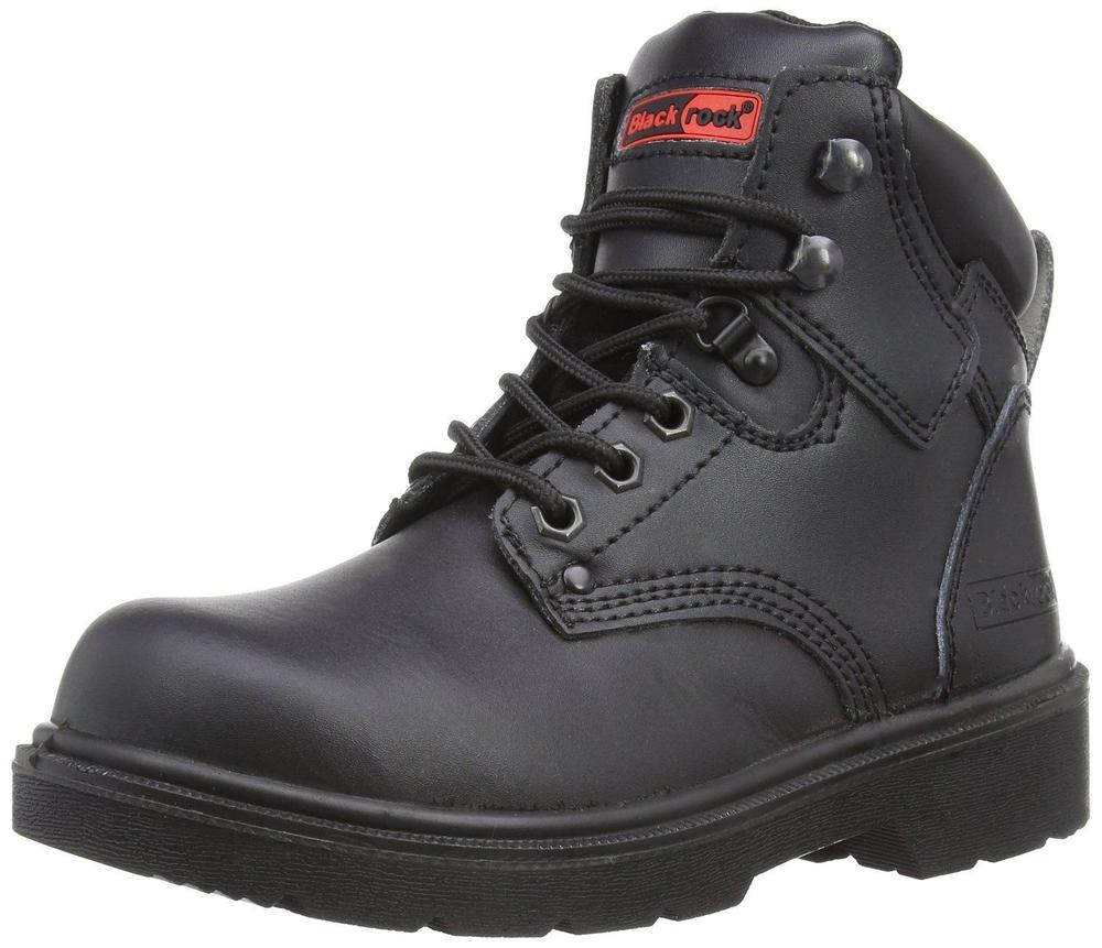 Blackrock SF04 Unisex Safety Boots SB-P SRA Black Trekking Size UK 6-12 Leather