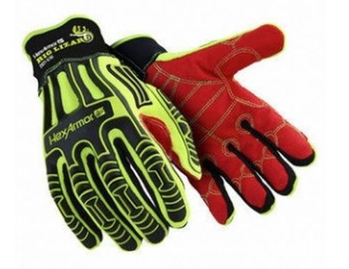 Polyco HexArmor Rig Lizard Hi-Vis Impact & Puncture Protection Glove HEX2021