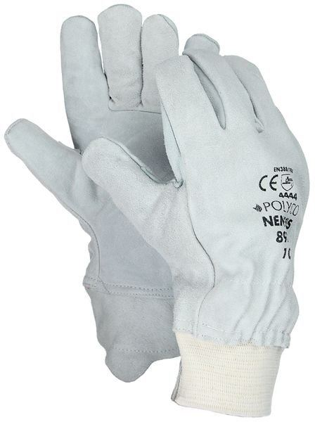 Polyco Nemesis 897 Chrome Leather Cut 4 Resistant Gloves White