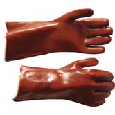 Polyco Polychem P43 Heavyweight PVC Chemical Resistant 14'' Gauntlet Red
