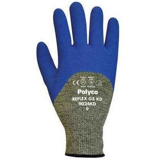 Polyco Reflex G5 KD Latex Coated Cut-5 Cut Resistant Gloves