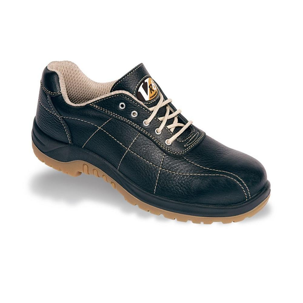 V12 Plumber Unisex Casual Comfort Safety Shoe VR660 uk 3-13 Leather Black