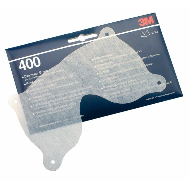 3M 400 Overspray Safety Respirator Guard Pack of 10