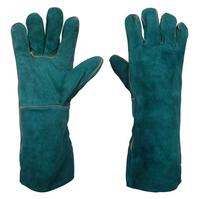 Polyco Weldmaster Green Lined Leather Gauntlet Large