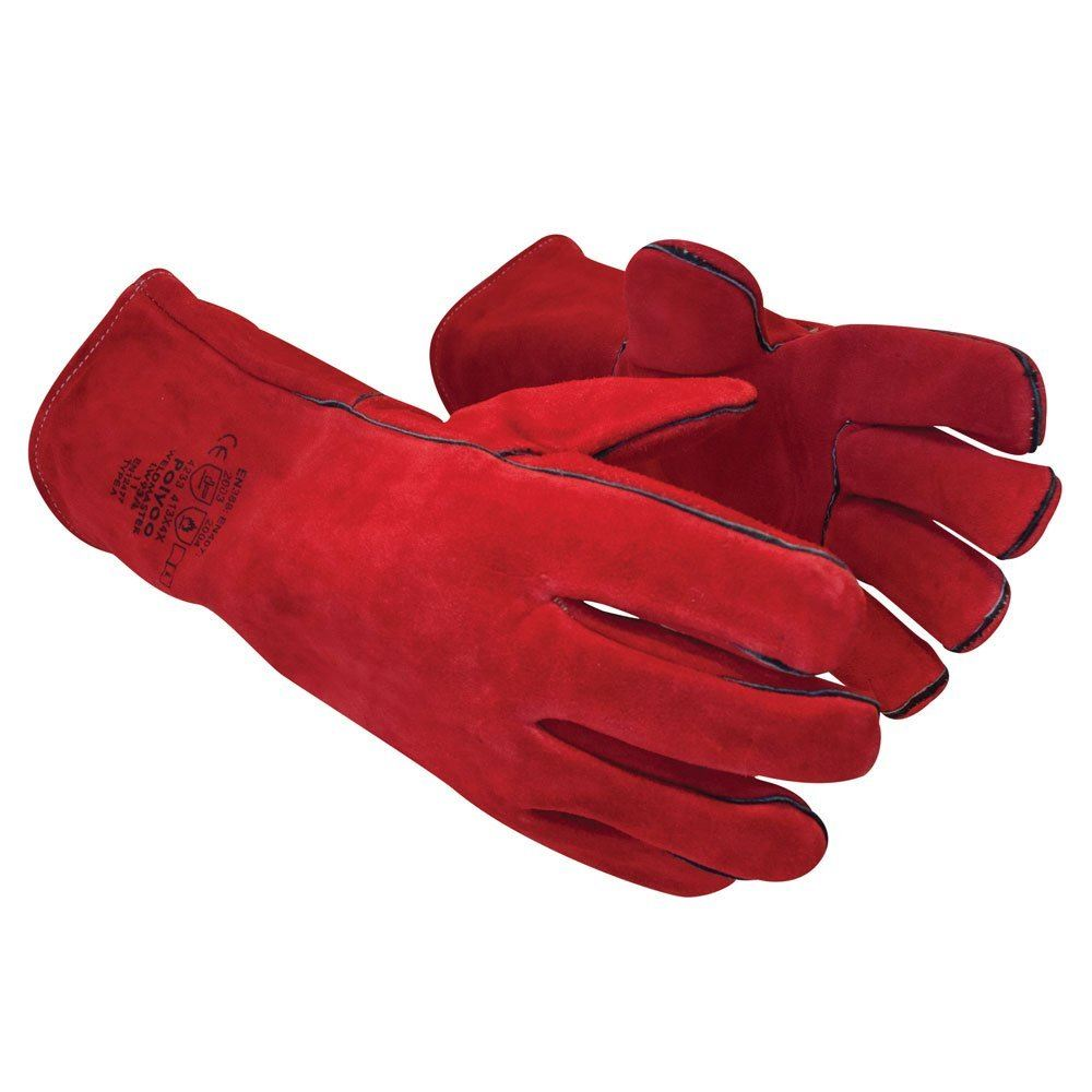 Polyco Weldmaster Red Leather Thermal & Welding Applications Gauntlet
