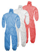 Polypropylene Disposable Coveralls GD4 White, Red or Blue