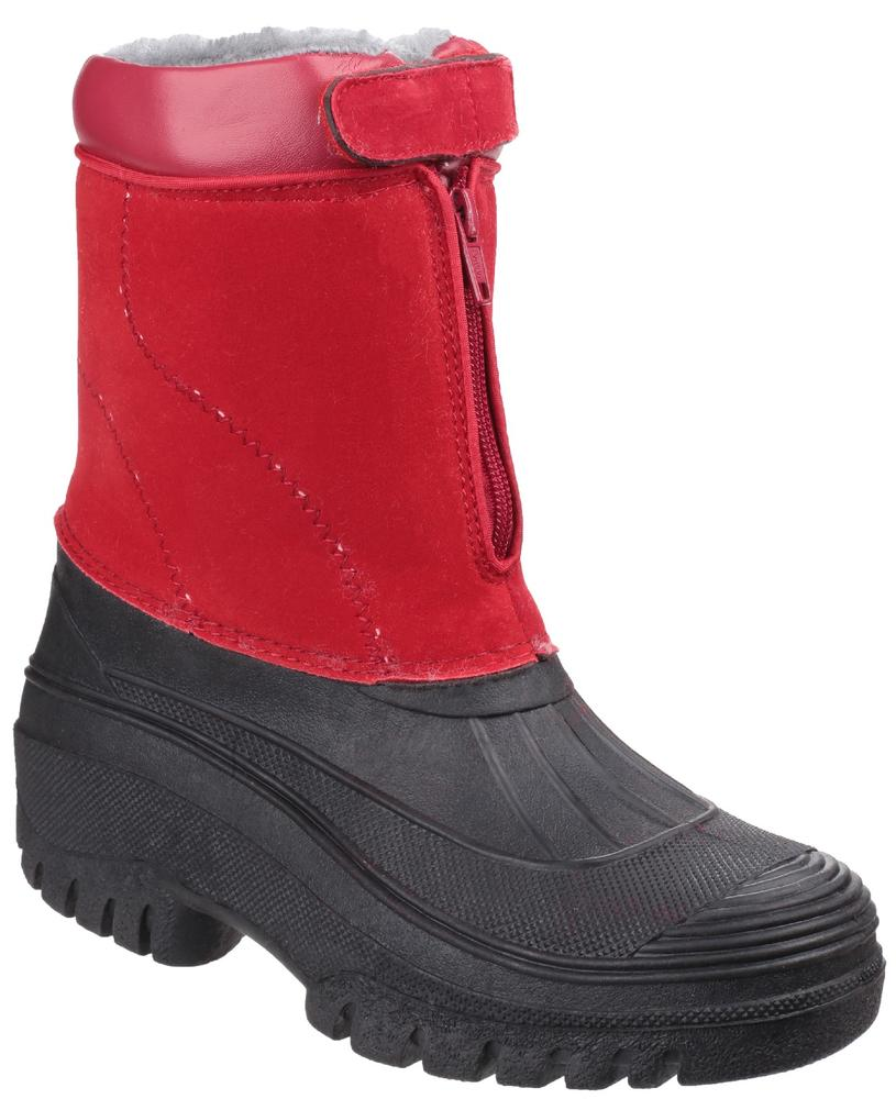 Cotswold Venture Ladies Waterproof Warm Lined Snow Boots Red