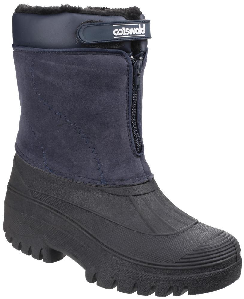 Cotswold Venture Ladies Waterproof Warm Lined Snow Boots Navy