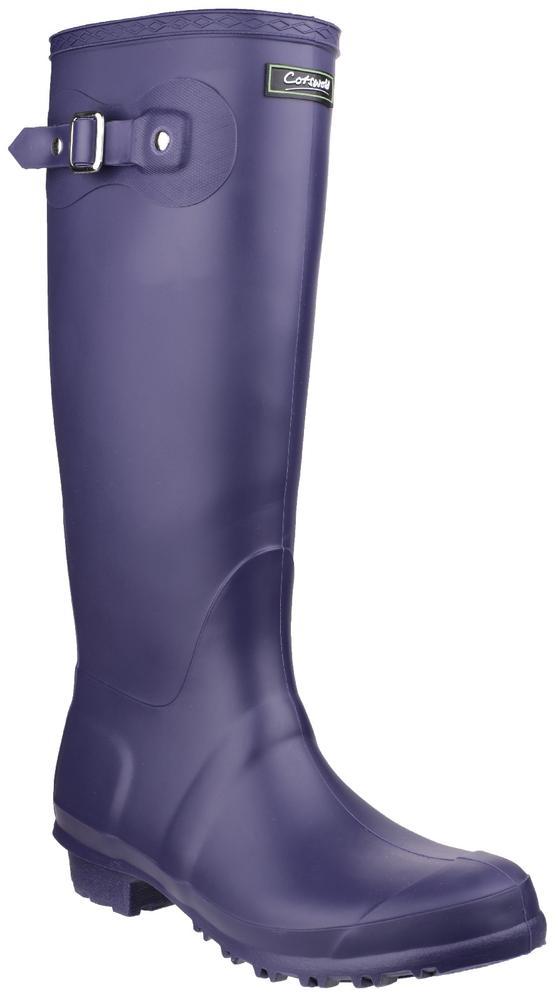 Cotswold Sandringham Non Slip Wellington Boots Purple