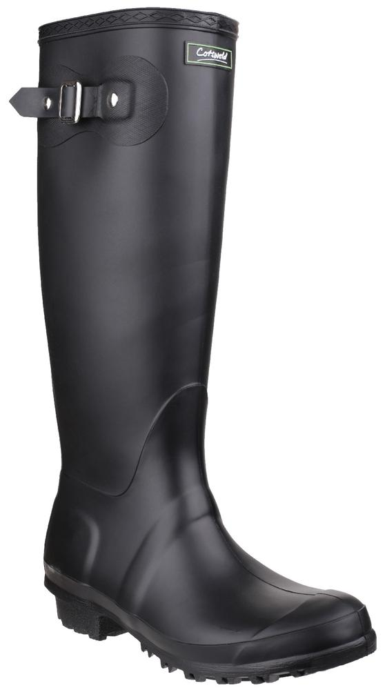Cotswold Sandringham Non Slip Wellington Boots Black