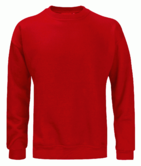 Orbit Elbrus Mens Sweatshirt 340gsm Polycotton Long Sleeve Sweater Workwear Red
