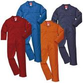 Portwest BIZ1 Bizweld Flame Resistant Coverall Royal Blue