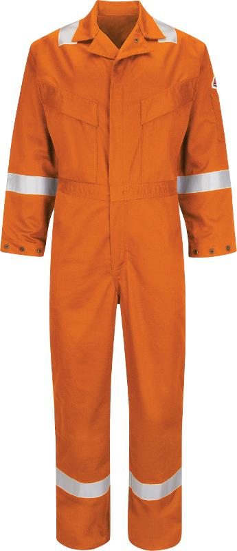 Bulwark CAD6 Work FR Coverall Deluxe Hi Vis Flame Retardant Anti-static 350Gsm Orange