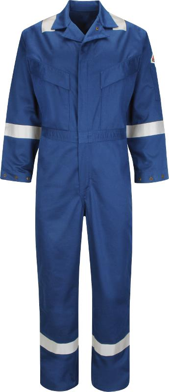 Bulwark Hi Vis Flame Resistant Anti-static 350Gsm Work FR Coverall Deluxe (CAD6) Royal Blue