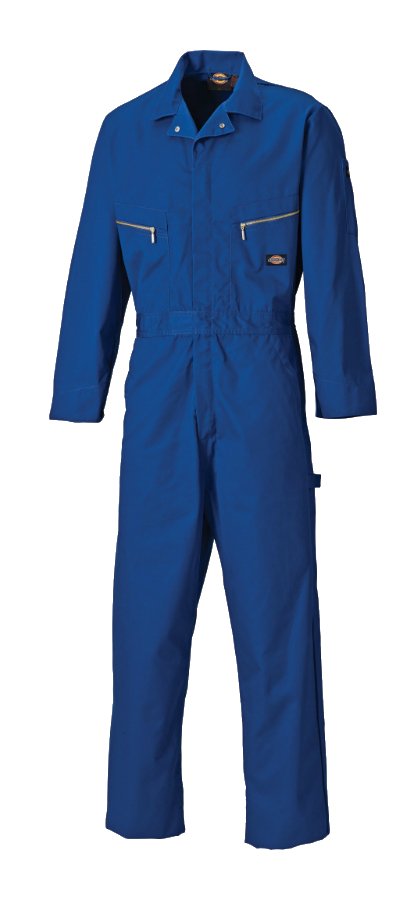 Dickies Deluxe Hammer Loop WD4879 Polycotton Coverall Royal Blue