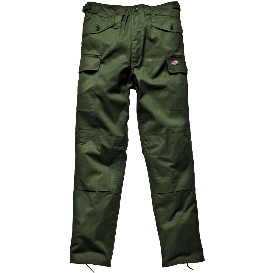 Dickies TR14400 Men Work Trousers Knee Pad Pouches Olive Green Size 46 Tall