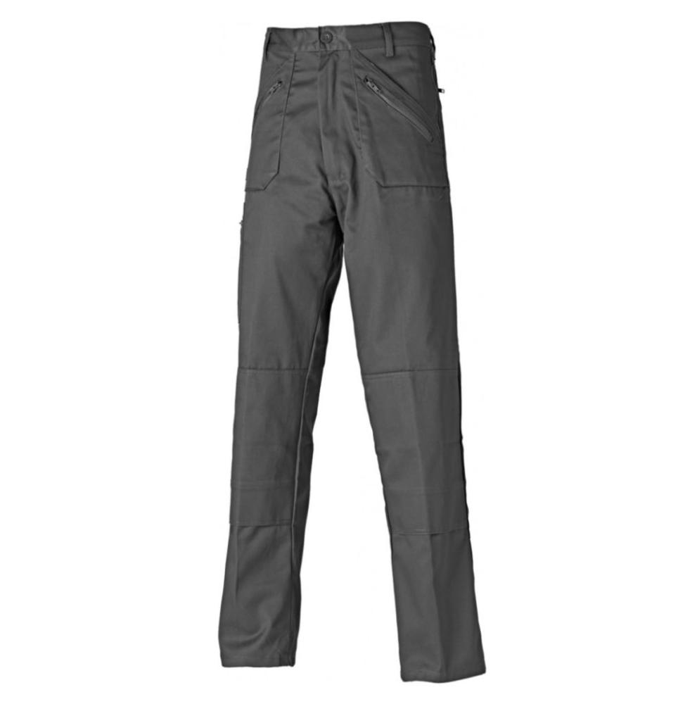 Dickies Redhawk WD814 Action Trousers KneePad Pockets Work Pants Polycotton Grey