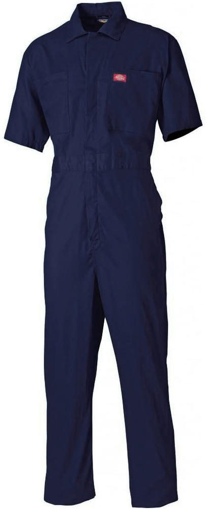 Dickies WD3399 Men Short Sleeve Coverall Polycotton Navy Size 36