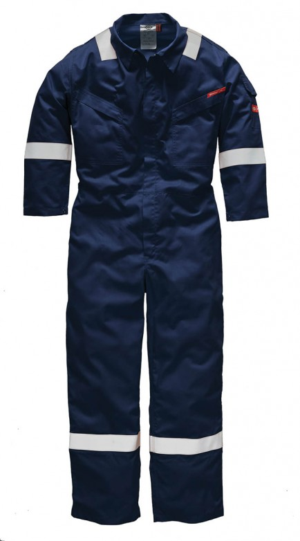 Dickies WD5055 Pyrovatex FR Coverall Reflective Tape Navy Size 42