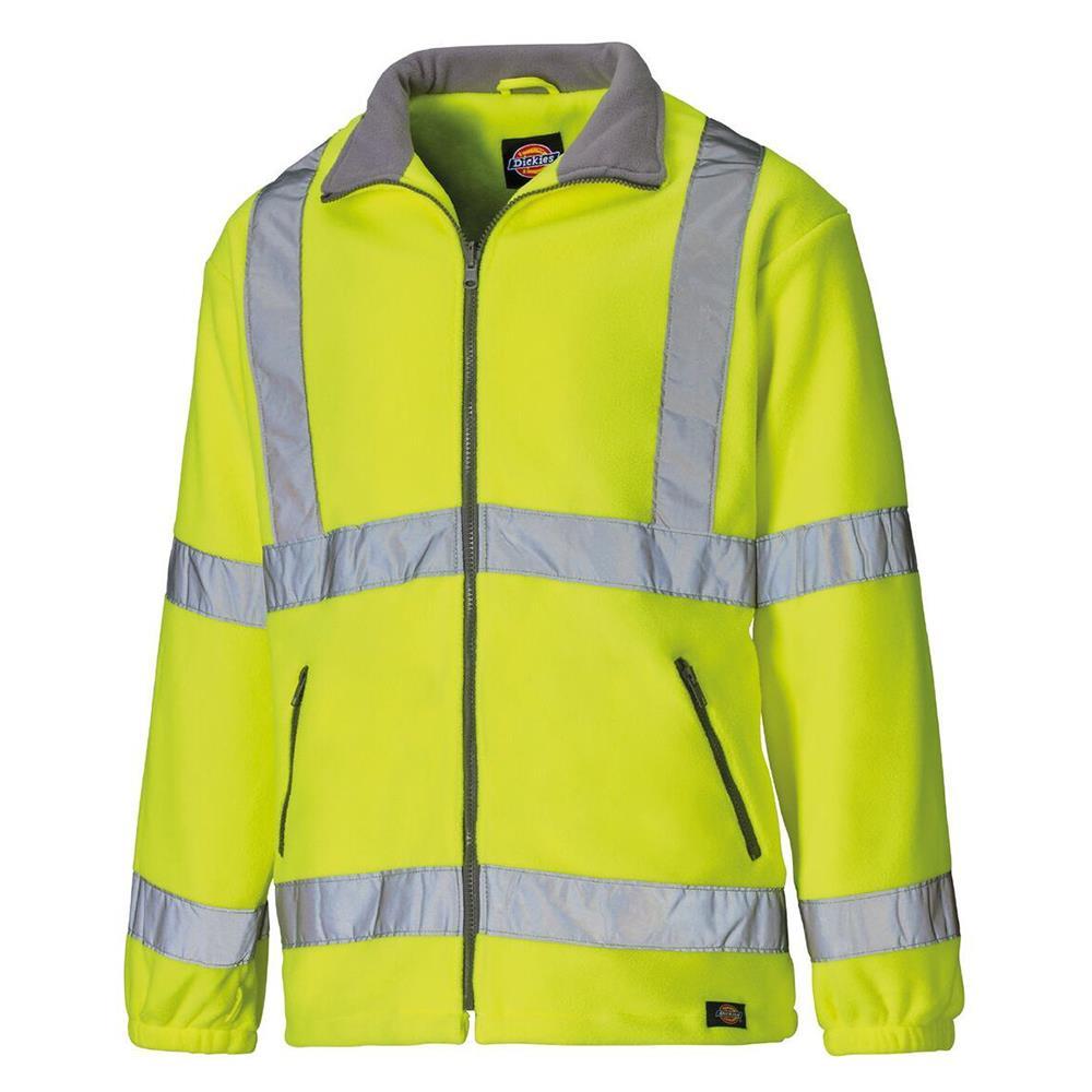 Dickies SA22032 Men Fleece Jacket High Visibility Yellow