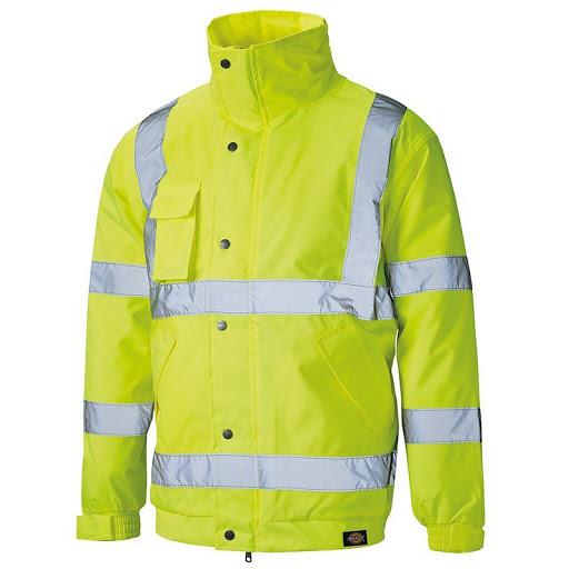 Dickies SA22050 Men Waterproof Bomber Jacket Hi Vis Yellow Size S