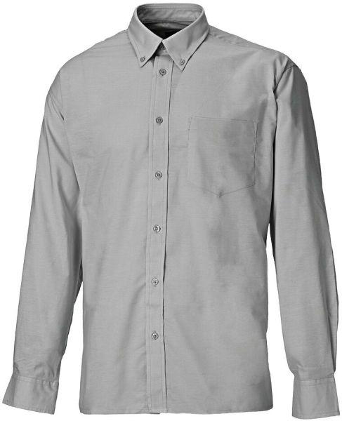 Dickies SH64200 Men's Oxford Weave Long Sleeve Shirt Grey