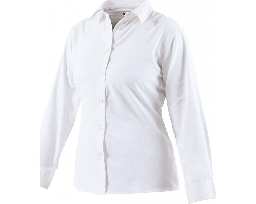 Dickies SH64300 Ladies Blouse Oxford Weave Long Sleeve Size 12 White