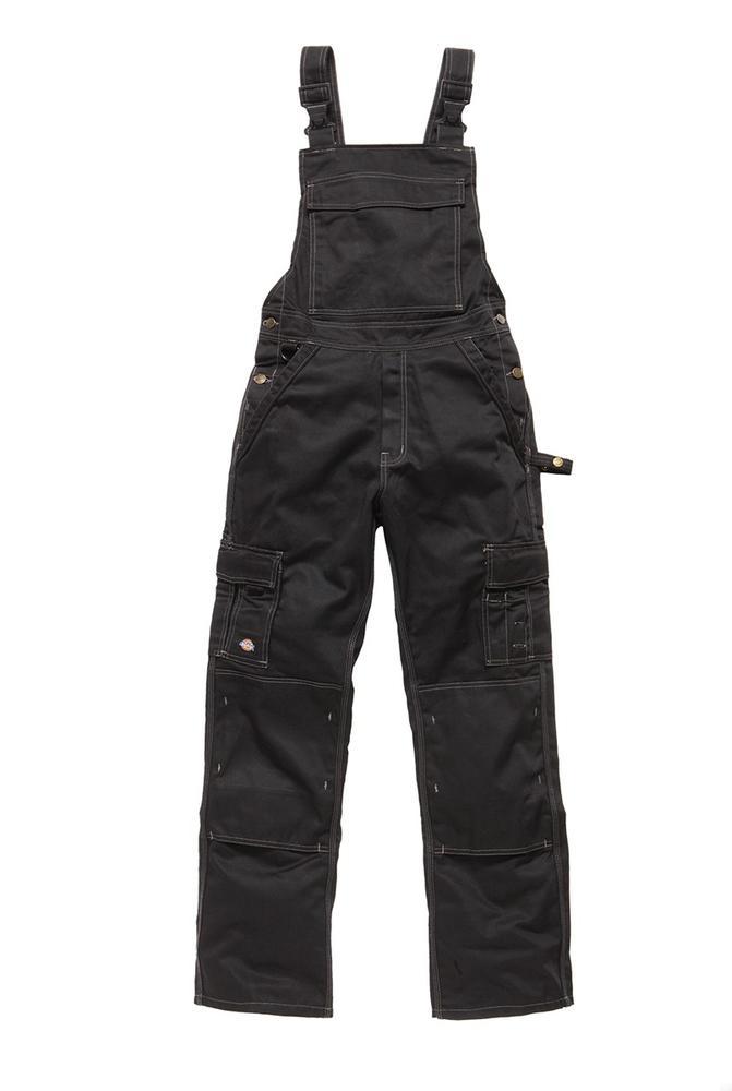 Dickies IN30040 Industry Men Bib and Brace Trousers Black Size 36