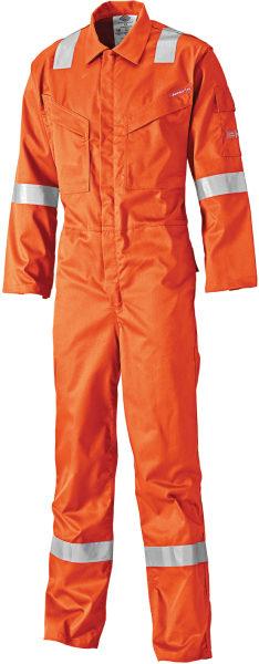 Dickies FR5401 Lightweight Pyrovatex FR Coverall Hi Vis Orange Size 42