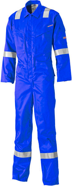 Dickies FR5401 Lightweight Pyrovatex FR Coverall Hi Vis Royal Blue Size 42