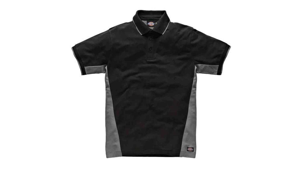 Dickies SH2004 Men Polo Shirt Grey Black Size L
